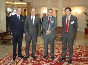 Los organizadores del Encuentro con el Consejero