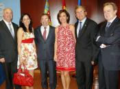 El Consejero de Sanidad Luis Rosado, Alberto de Rosa e Ignacio Para