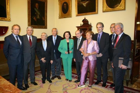 Foto con los académicos