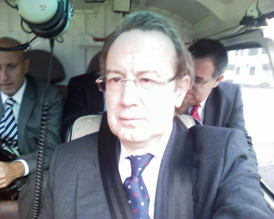 Ignacio Para regresando de una reunión con el Secretario de estado