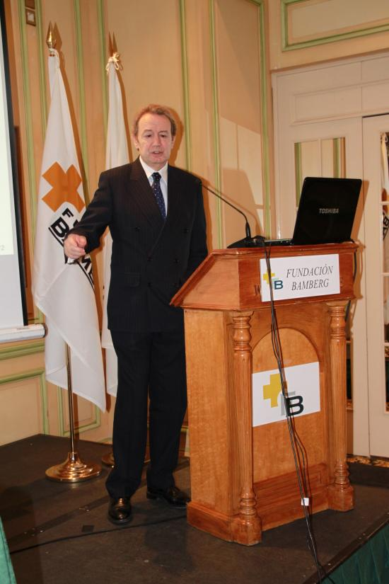 Ignacio Para durante la presentación del informe
