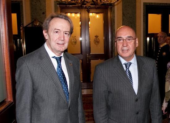 Los presidentes del Senado y de la Fundación Bamberg