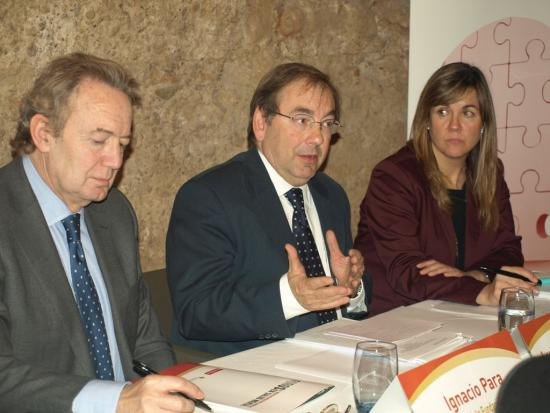 Ignacio Para, Luis Rosado y Leonor Rodriguez