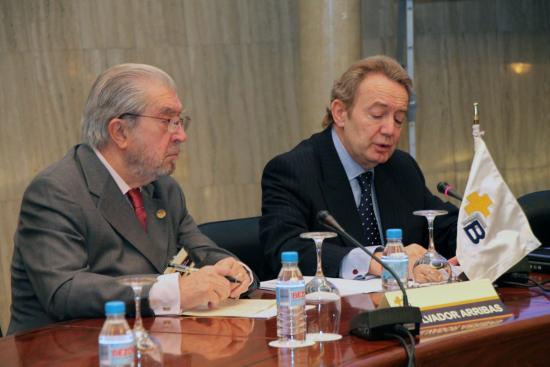 Ignacio Para y Salvador Arribas, presidente y secretario general de la Fundacion