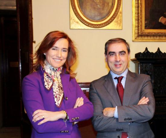 La Presidenta de Merck y el Secretario General de Sanidad