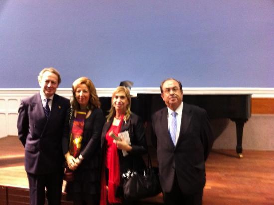 Teresa Pages con Ignacio Para y Honorio Bando