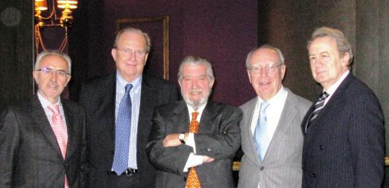 Los Doctores Vicente Guillem, Carlos Camps, Salvador Arribas, Eduardo Díaz Rubio