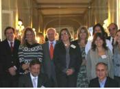 Foto de familia en la Facultad de Medicina de la Universidad Complutense