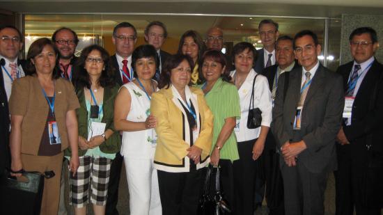 :Los miembros Peruanos con Antonio Burgueño, José Soto e Ignacio Para